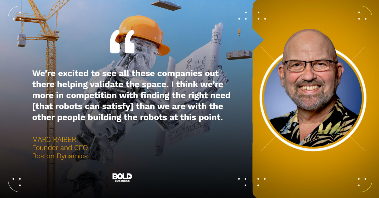 photo quote of Marc Raibert concerning the topic of the innovative invention that is the robot dog