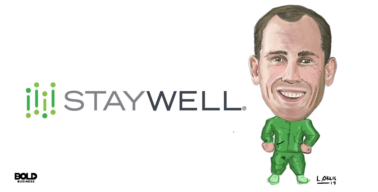 caricature of bold leader pearce fleming from staywell company