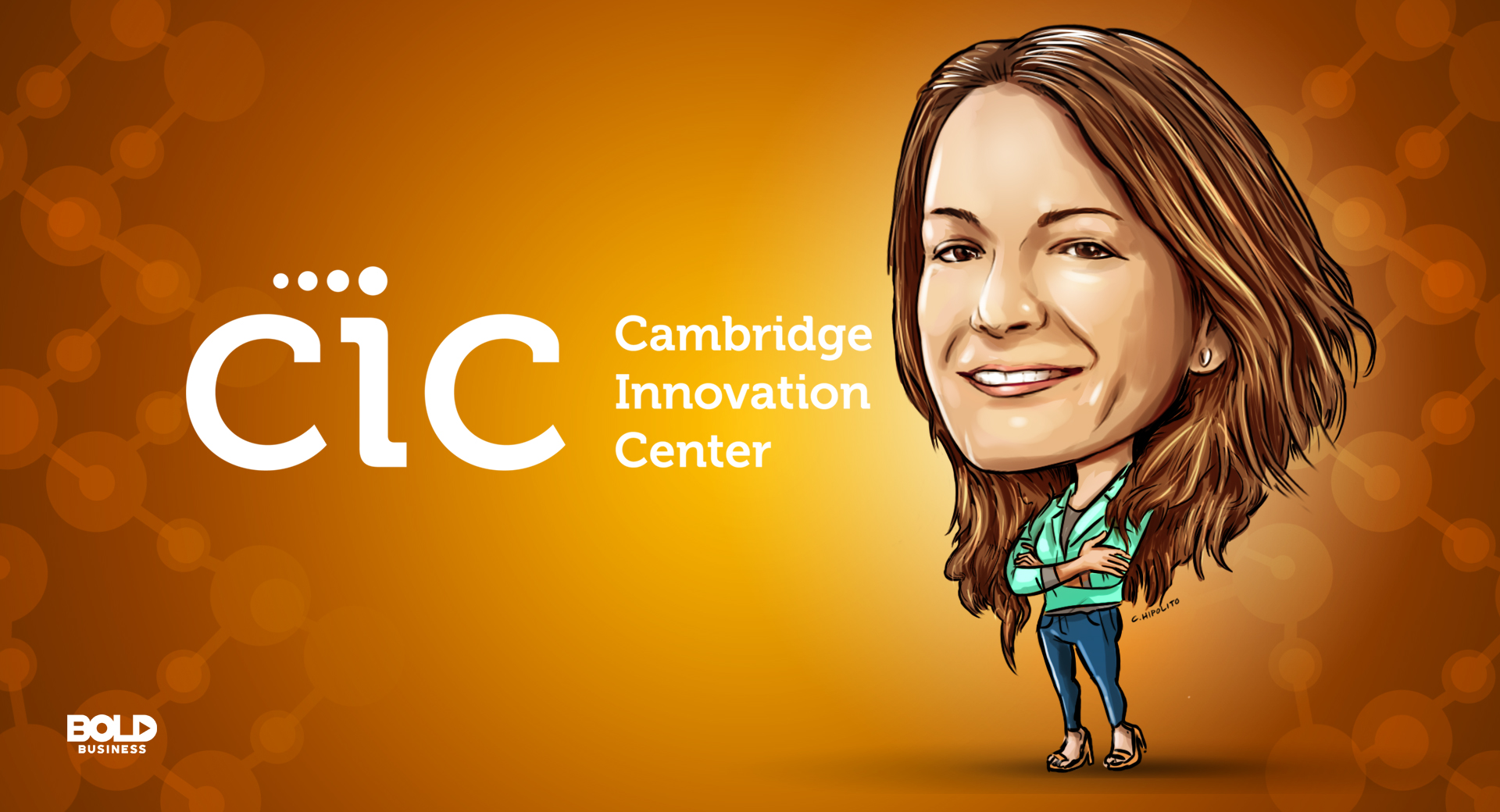 caricature of Natalia Martinez-Kalinina, general manager of the cambridge innovation center