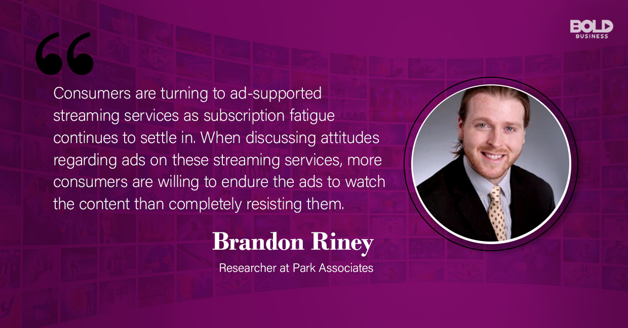 new streaming services, brandon riney quoted