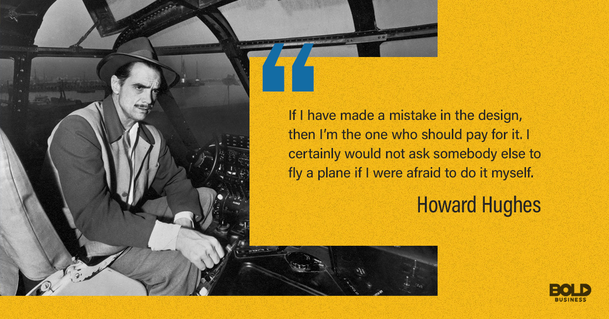 Hughes was an aviator willing to take risks