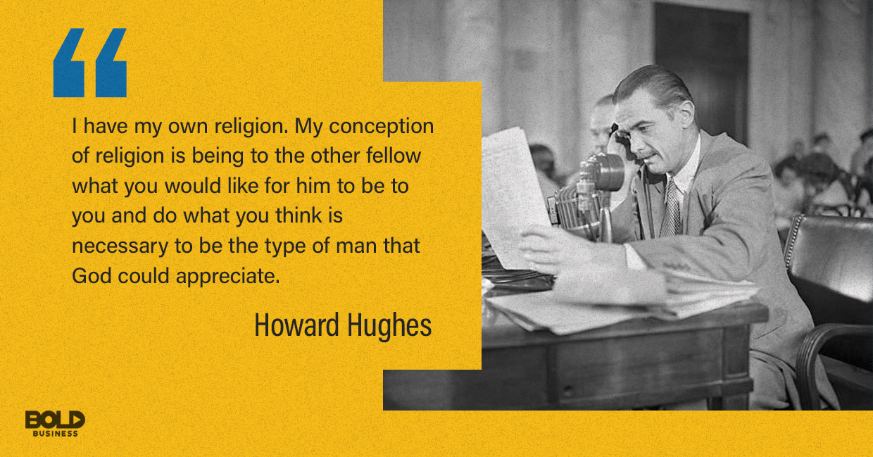 Howard Hughes doing some sort of radio interview