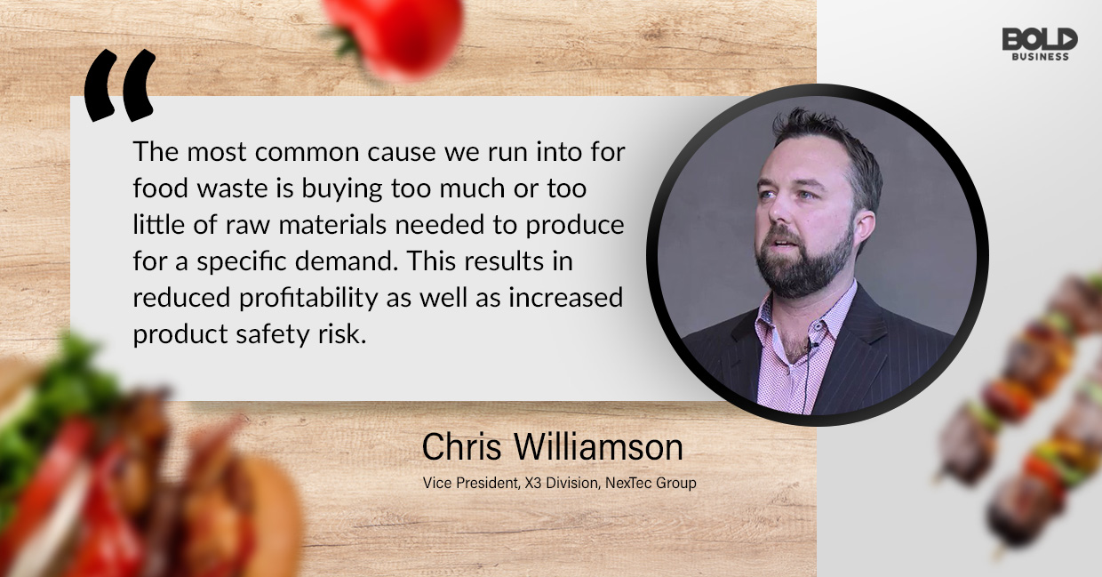 food waste solutions, chris williamson quoted