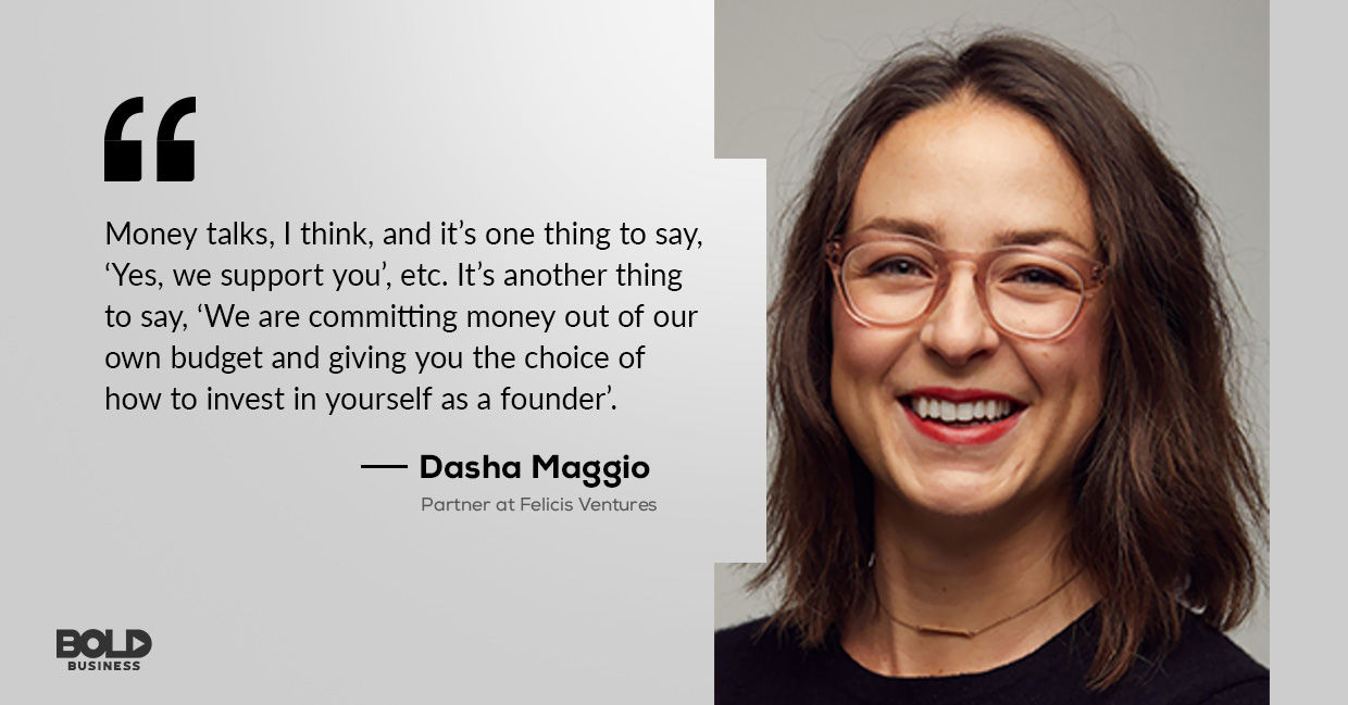 photo quote of Dasha Maggio concerning the topics on mental health management and entrepreneur depression