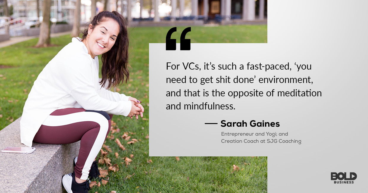 photo quote of Sarah Gaines concerning the topics on mental health management and entrepreneur depression