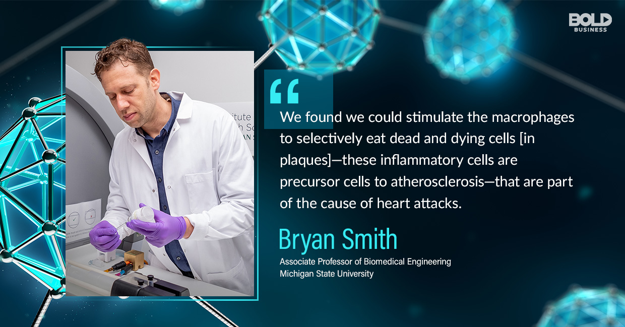 photo quote of Bryan Smith concerning the latest biomedical therapy news that is nanoparticles