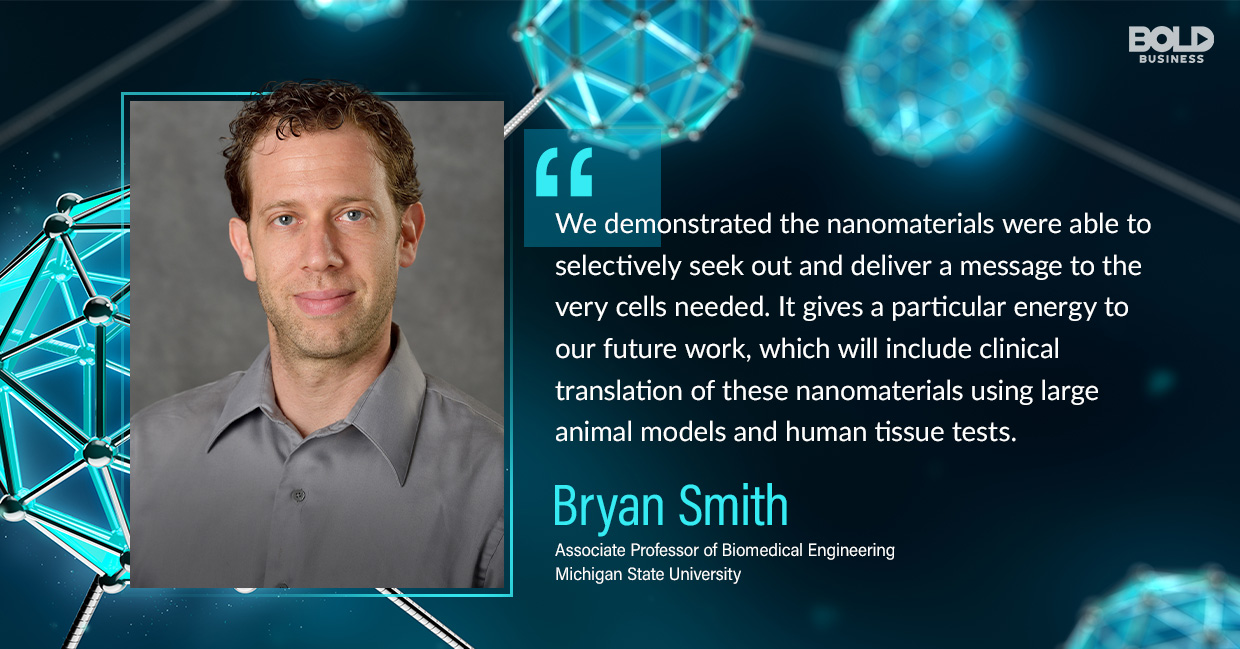 photo quote of Bryan Smith in relation to the latest biomedical therapy news that is nanoparticles
