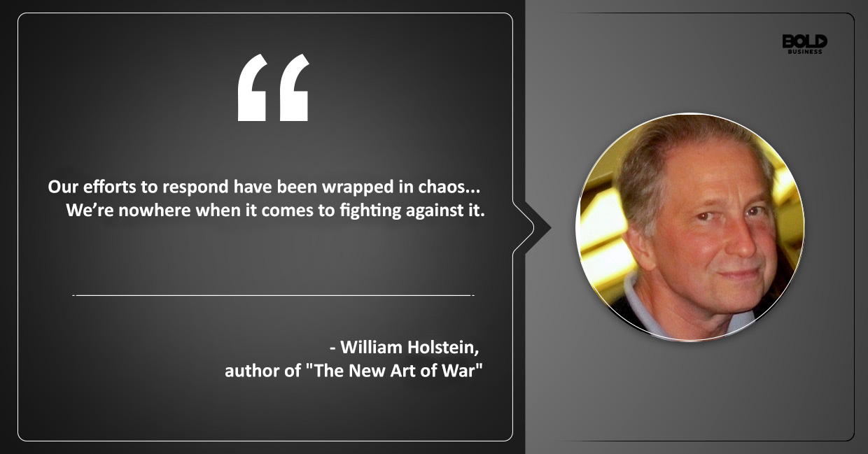 Author William Holstein talking about chaos
