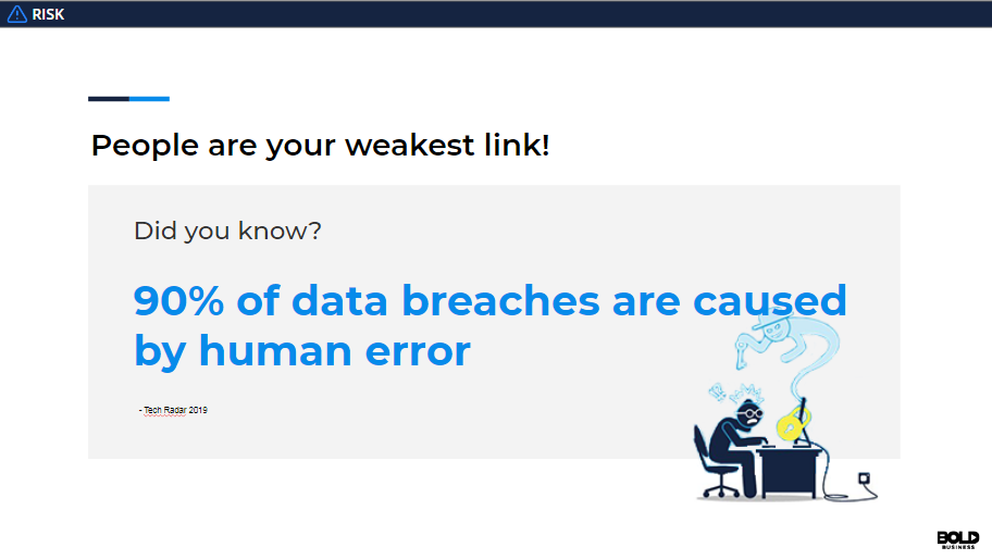 People are generally the weakest link in cybersecurity