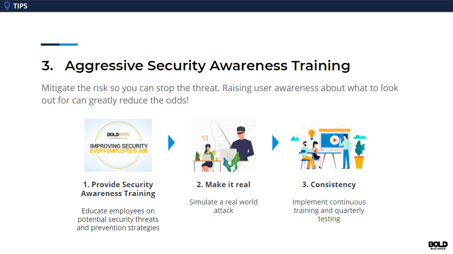 Aggressive security awareness training can strengthen the weakest link