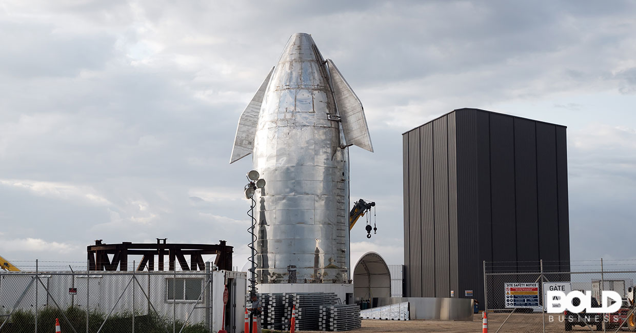 The SpaceX rocket Dragon2, ready to go to space