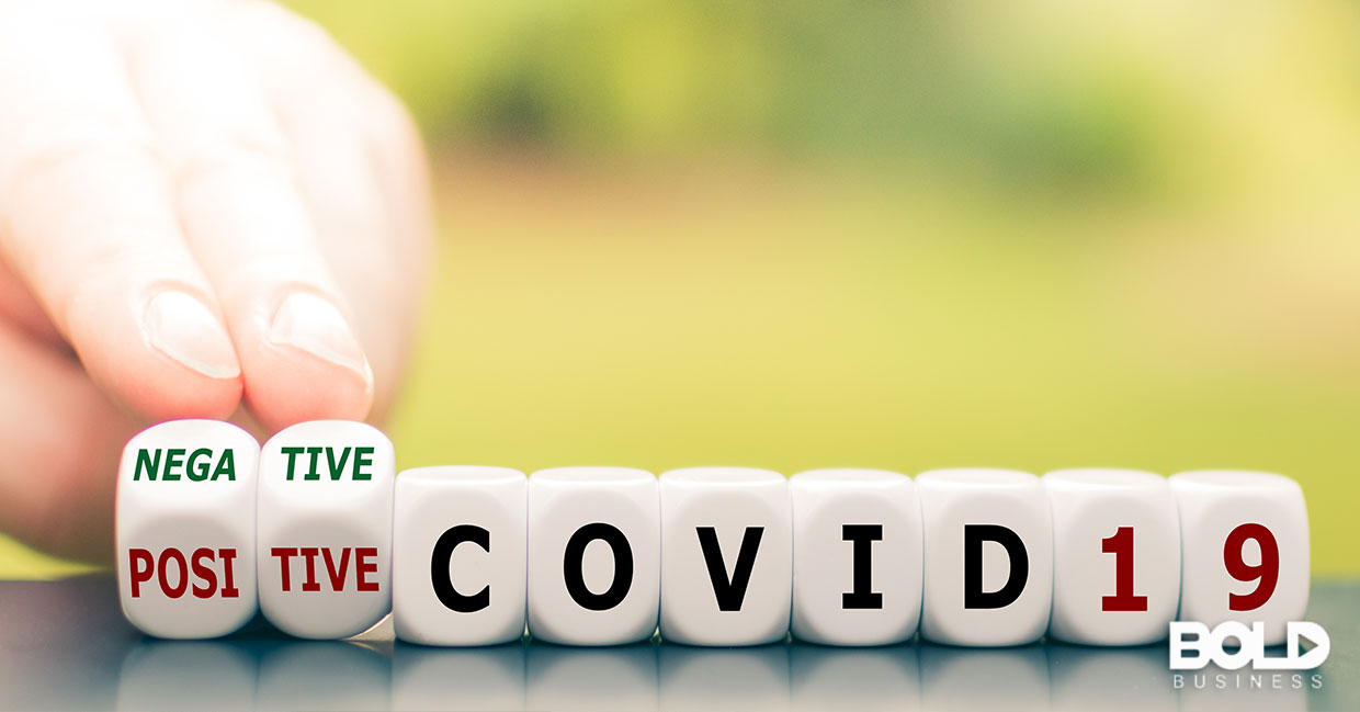 Someone turning negative into positive when it comes to COVID