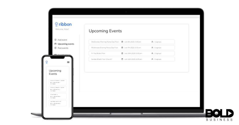 A screenshot of the Ribbon app