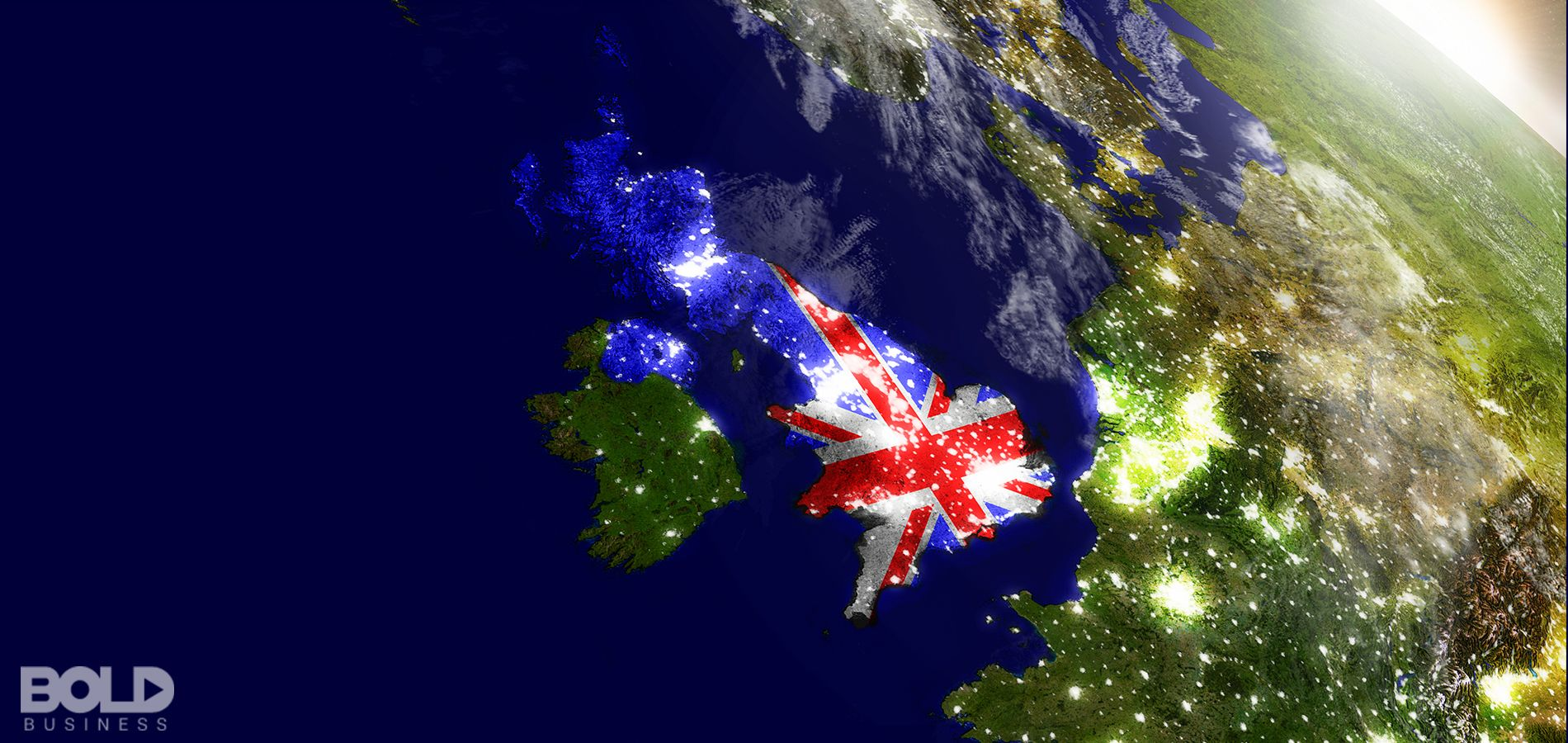 An astronaut's view of Great Britain