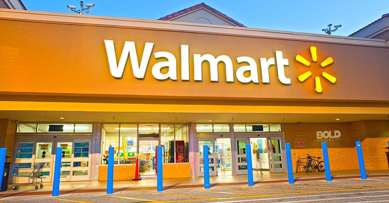 A glittering Walmart storefront