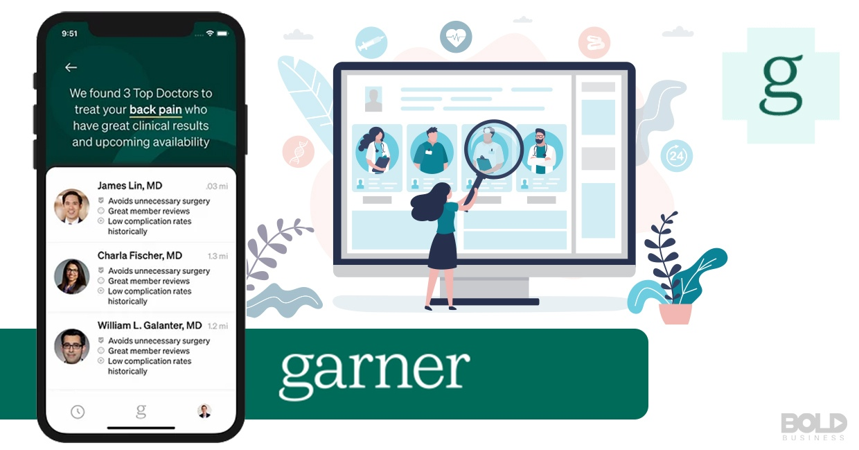 The Garner app being used to choose doctors