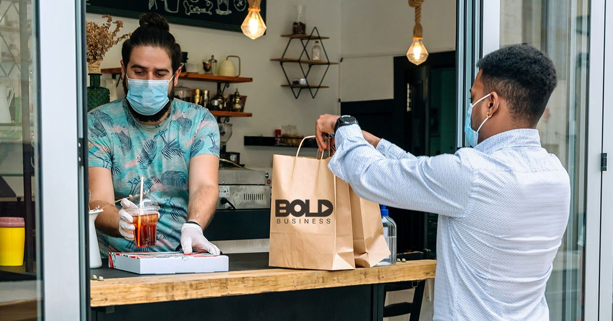 A doctor purchasing a fresh bag of Bold Business