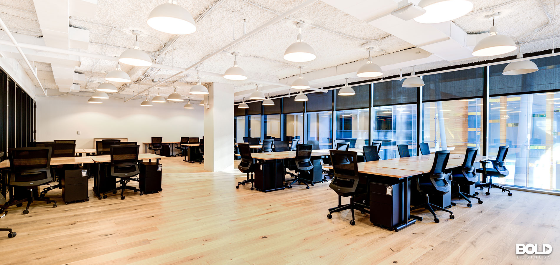 A nice, bright and open shared workspace