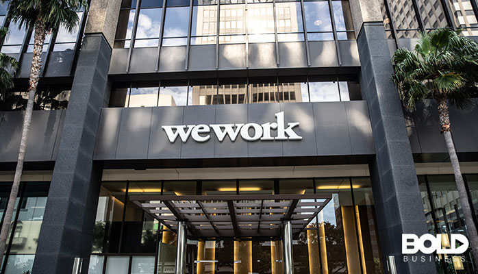 The entrance to a cool WeWork space