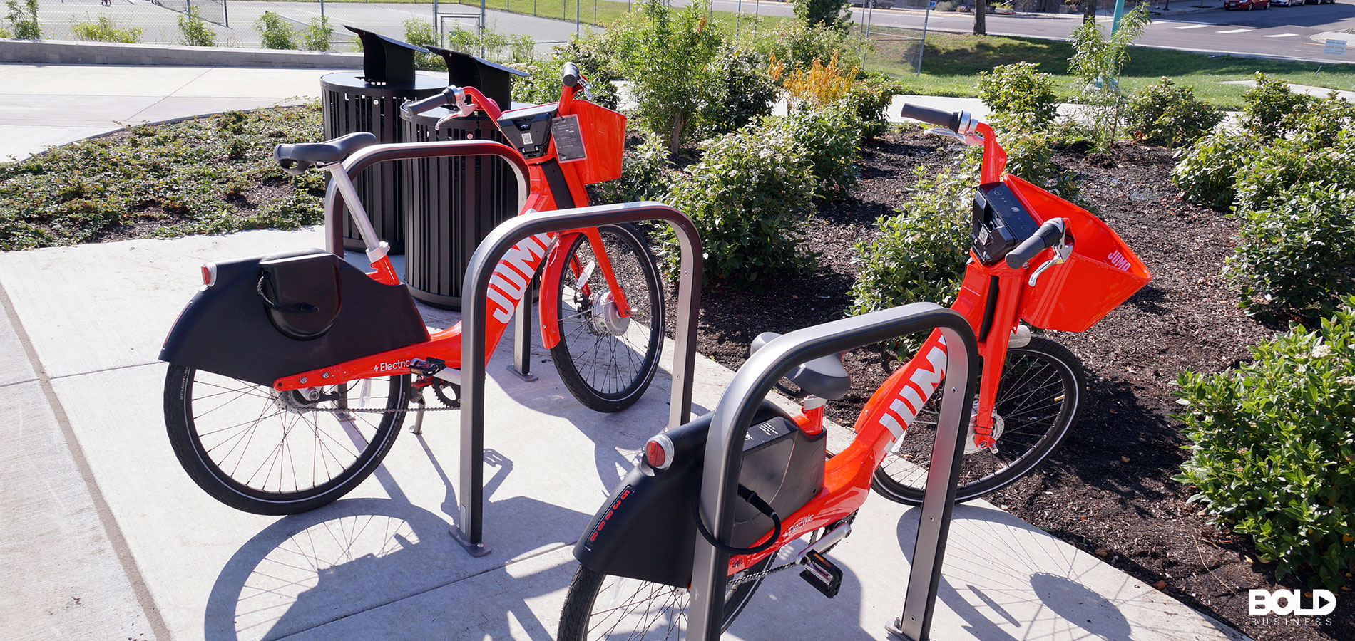 Some e-bikes waiting patiently for riders