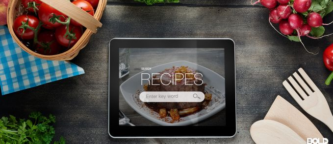 Someone looking up a recipe on their tablet like a chump