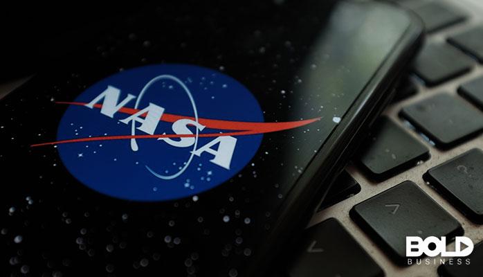 Someone flaunting their NASA phone case