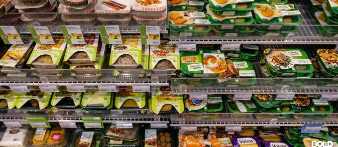 An entire section in the grocer for meat alternatives