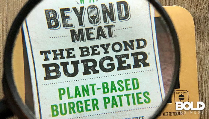 A Beyond Meat burger, which is likely gross