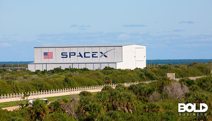 A SpaceX hangar in Florida