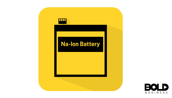 A yellow graphic depicting a battery