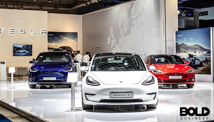 A bunch of Teslas ready to crash somewhere