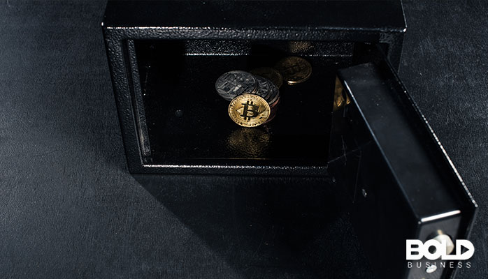 Someone keeping their BitCoin locked in a safe