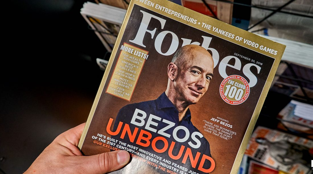 Jeff Bezos on the cover of Forbes