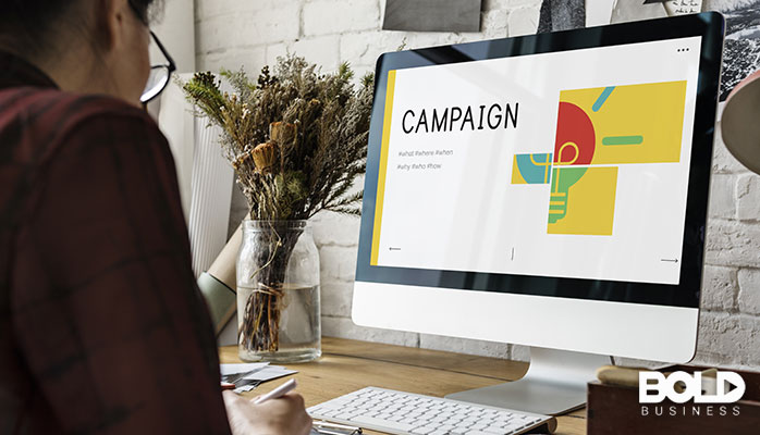 A digital display of a political campaign
