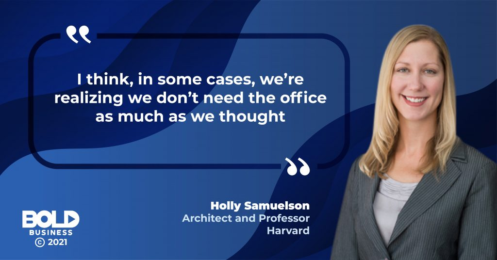 Remote work Holly Samuelson back to the office debate