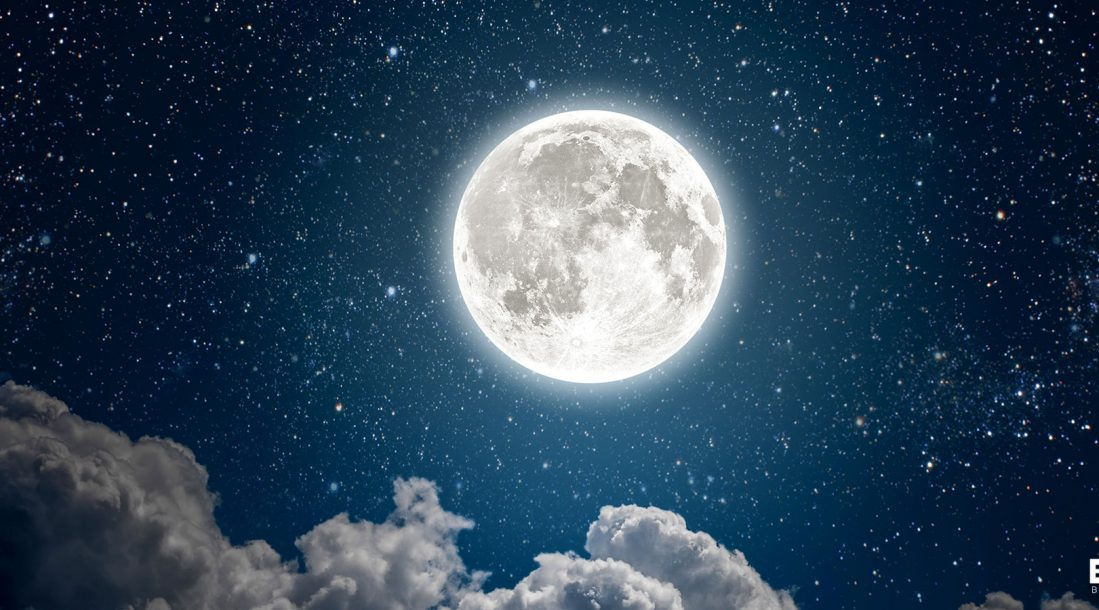 The moon in all its werewolf glory