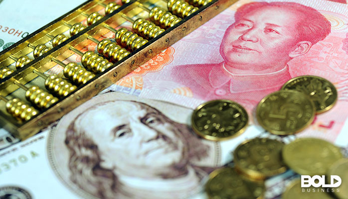 American currency and Chinese currency, together at last