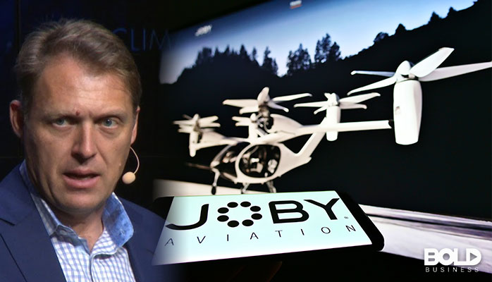 A CEO bragging about his flying taxi company
