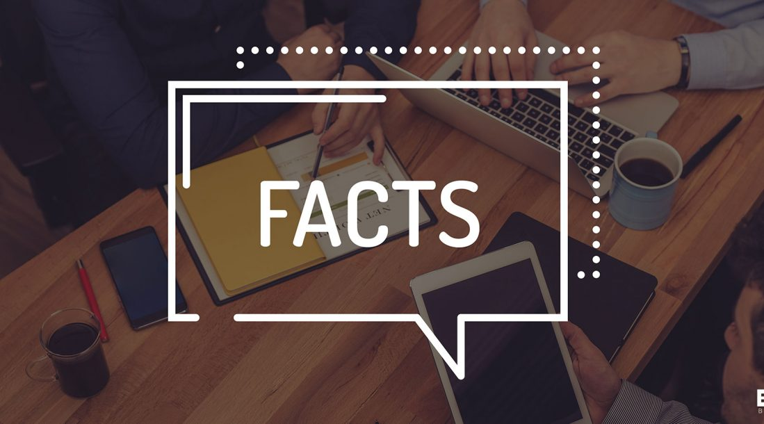 A big fact box hovering over a table